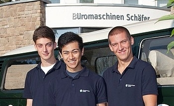3 NEUE AZUBIS ...bei Büromaschinen Schäfer - Bild